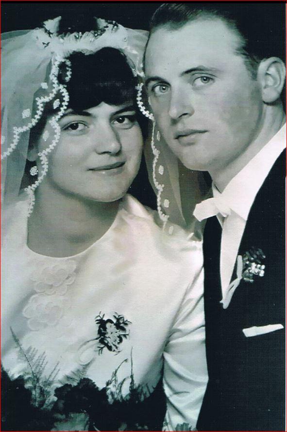 Hochzeitspaar Horst und Liesel Briel, geb.Trusheim