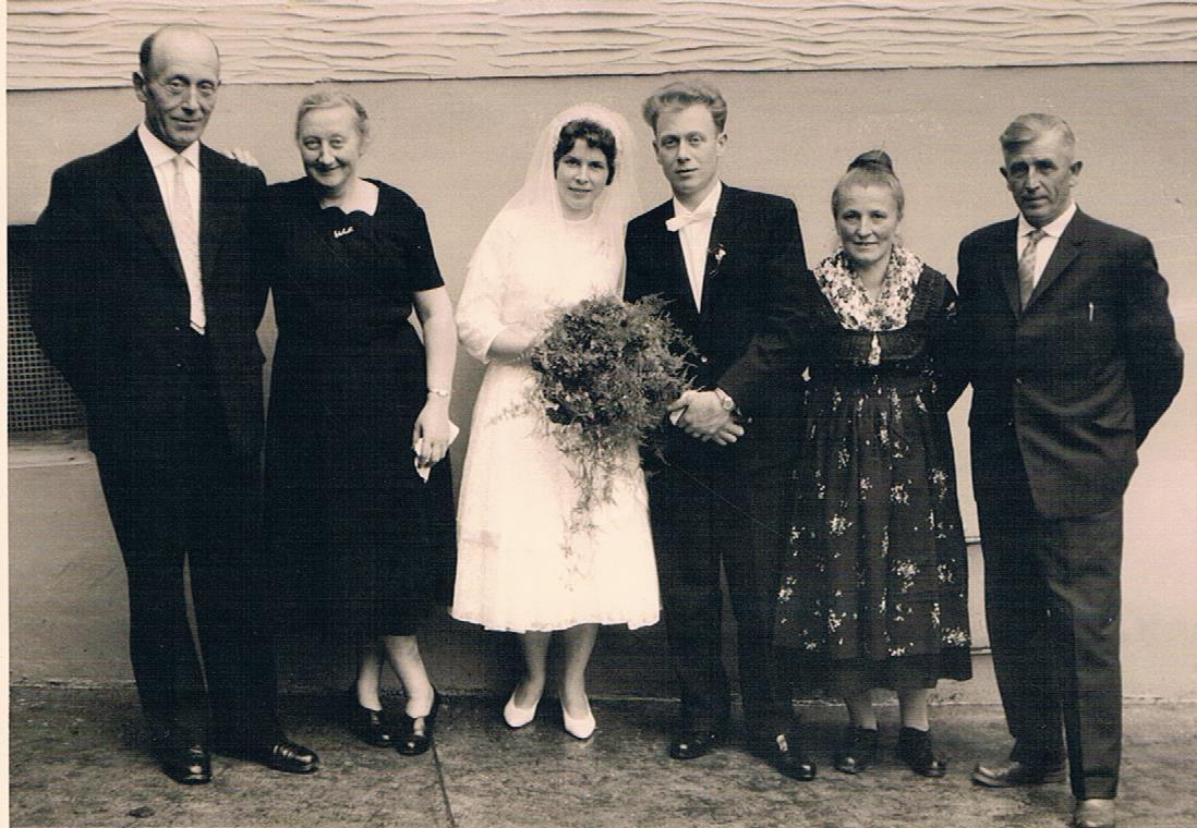 Hochzeitspaar Wilhelm und Gertrud Pitz, geb. Vöbel