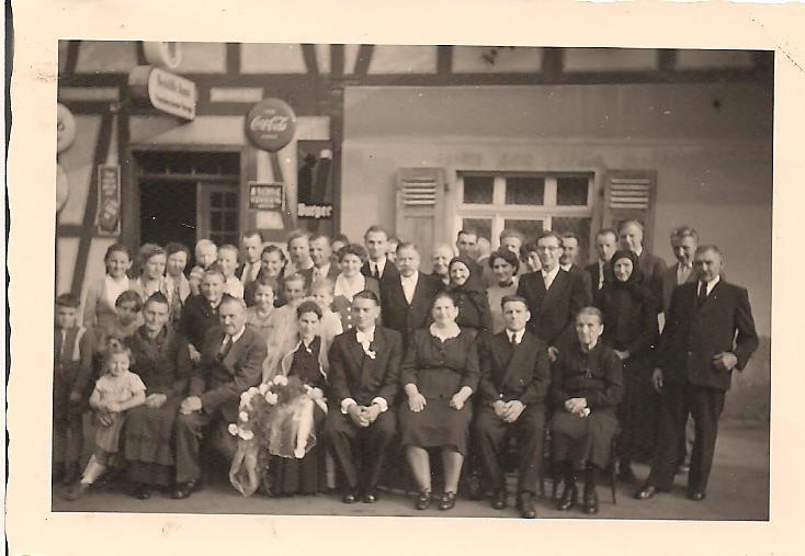 8. Hochzeitspaar Alfred und Theresa Damm, geb. Rauchbauer