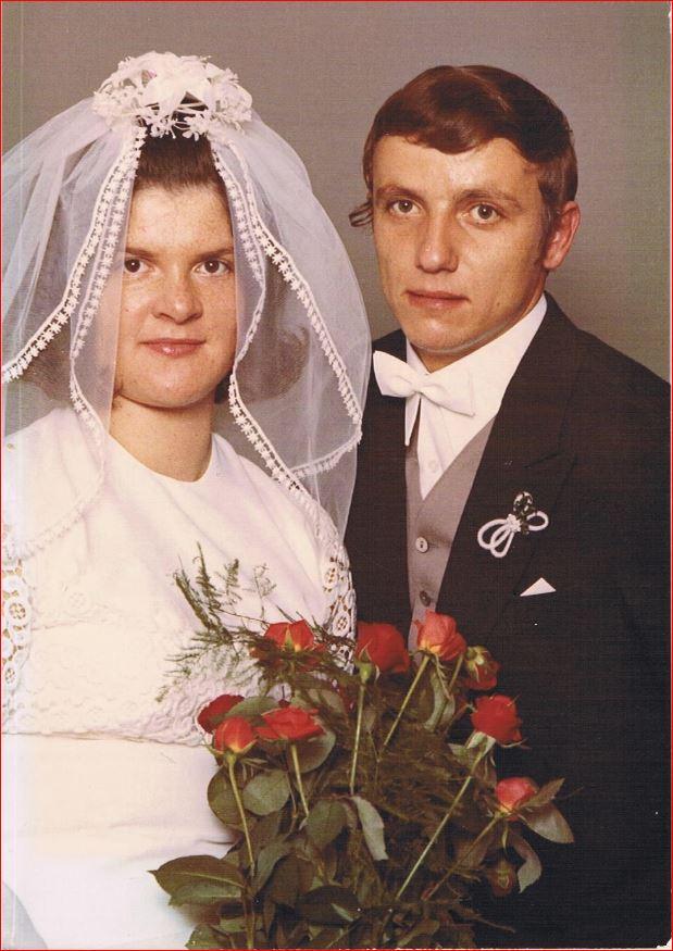 Hochzeitspaar Hermann und Elke Trusheim, geb. Schneider