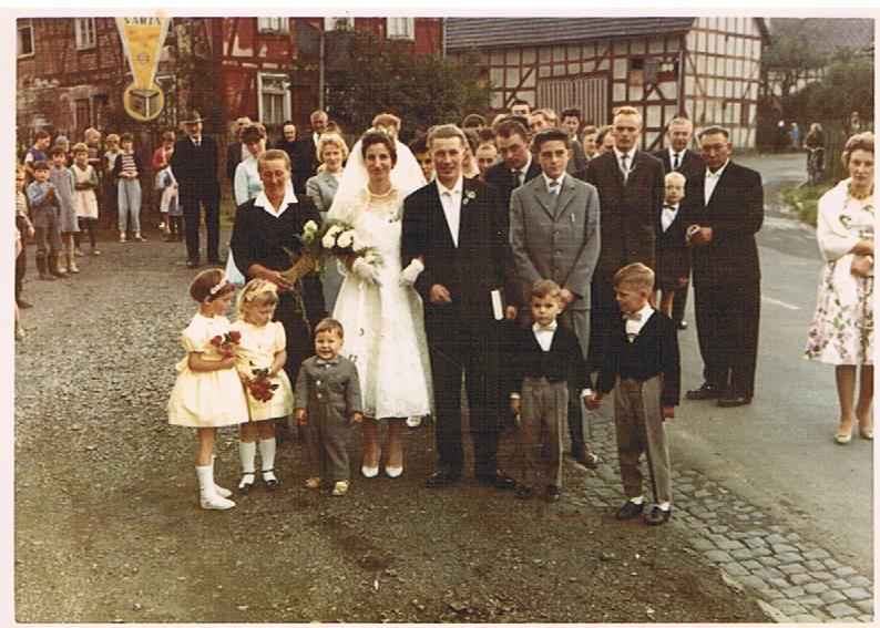 Hochzeitspaar Rudolf und Erna Inacker, geb. Jansen