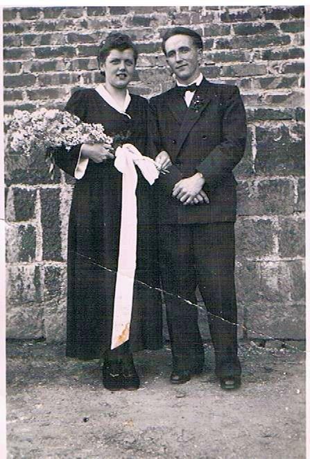 12. Hochzeitspaar Ernst und Luise Schmitt, geb. Reibert