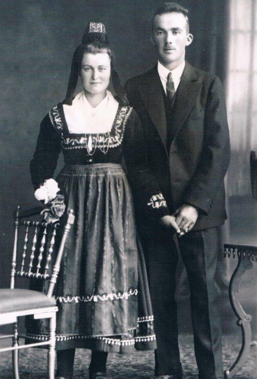 14. Hochzeitspaar Wilhelm und Katharina Roth, geb. Hallenberger