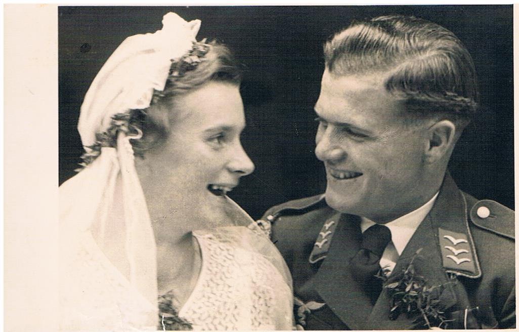 Hochzeitspaar Karl und Margot Damm , geb. Kurkowski