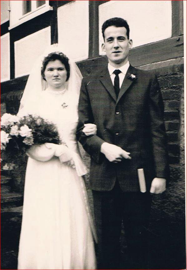 Hochzeitspaar Alfred und Elly Redante, geb. Schneider