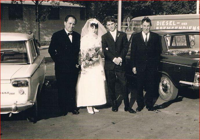 Hochzeitspaar Axel und Doris Fiedler , geb. Lettermann