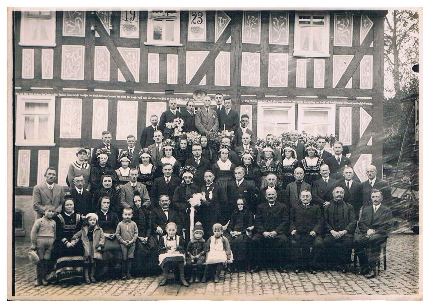 3. Hochzeitspaar Heinrich und Katharina Mankel, geb. Henkel