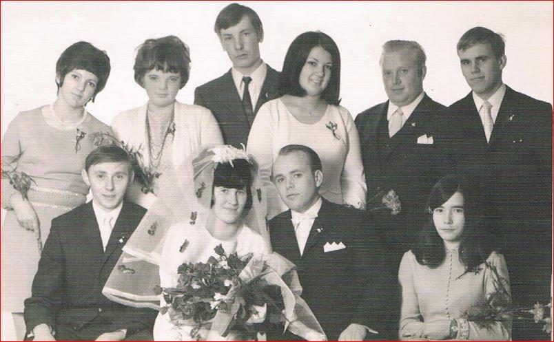 Hochzeitspaar Heinz und Margret Adam, geb. Afflerbach