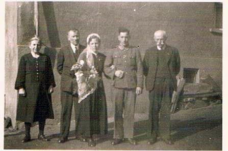 6. Hochzeitspaar Fritz und Emilie Lettermann, geb. Groß