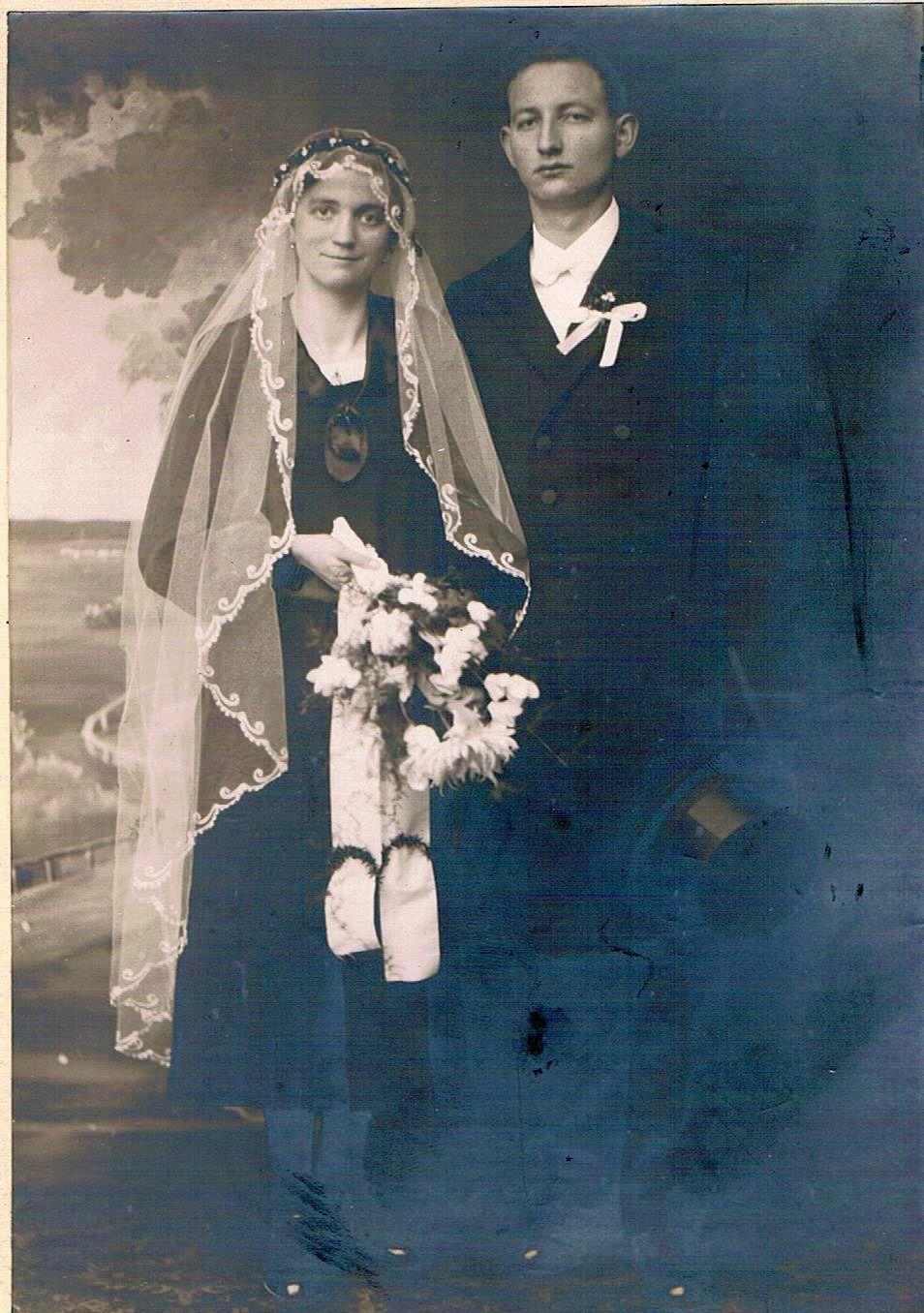10. Hochzeitspaar Jakob und Katharina Schmitt, geb. Gerhard