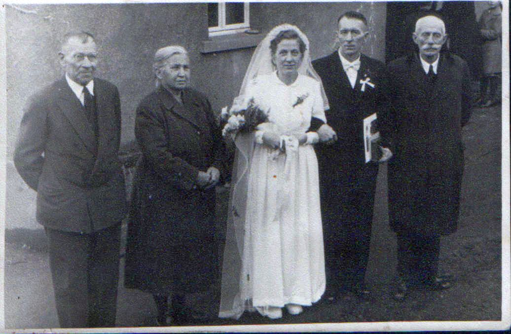 5. Hochzeitspaar Wilhelm und Hedwig Lettermann, geb. Groß