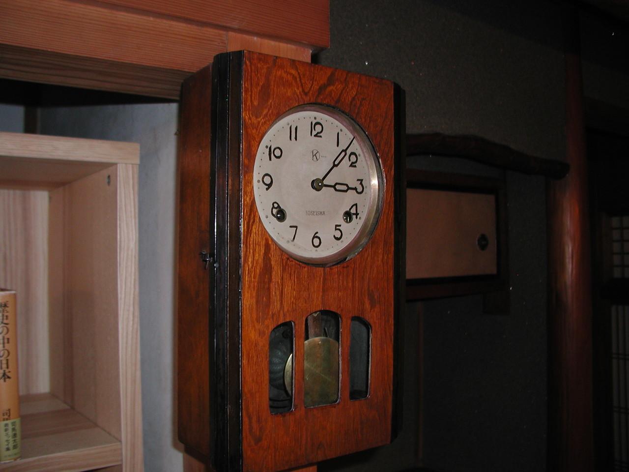 柱時計(村野隣)