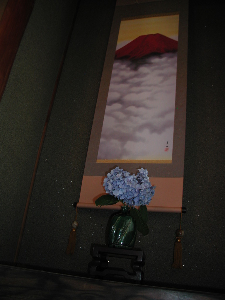 赤富士と紫陽花(村野隣)