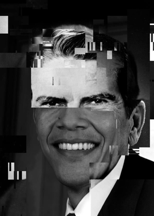 Once Upon a Time the Presidents #4 (Deconstruction Time, Again project by Olivier Ratsi) - with Ronald Reagan, Richard Nixon and Barak Obama