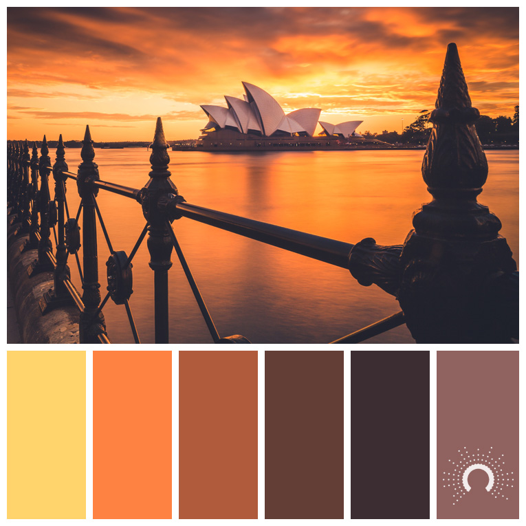 color palette, color combination, Farbpalette, hue, yellow-orange, yellow-orange shade, red-orange, red-orange shade, red-purple. taupe, gelb, taupe