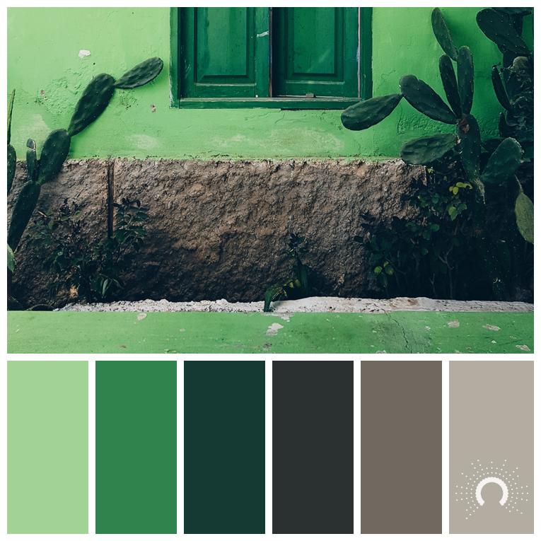color palette, color combination, color combo, Farbpalette, hue, green, blue, yellow-orange, grey, blau, grün, gelborange, grau