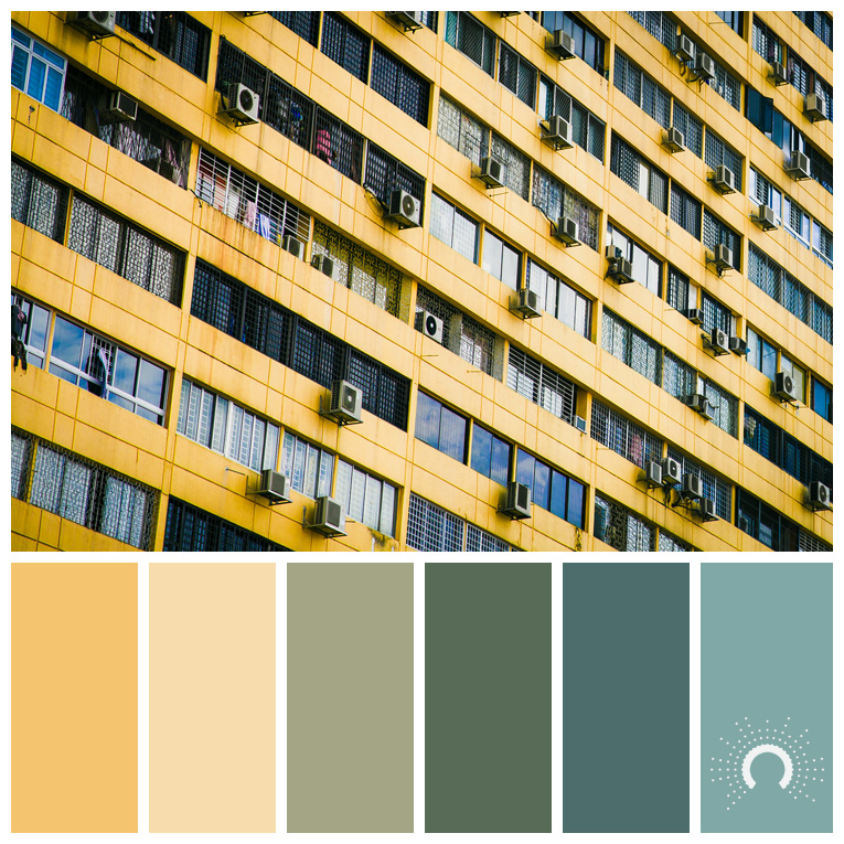 color palette, color combination, Farbpalette, hue, yellow, gelb, green, grün, blaugrün, blue-green, yellow-green, gelbgrün, diad, color harmony, Farbharmonie