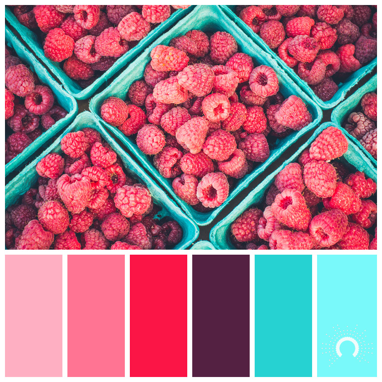 color palette, color combination, Farbpalette, hue, red, pink, rose, purple, red-violet, blue-green, blue, blau, rot, rosa, lila