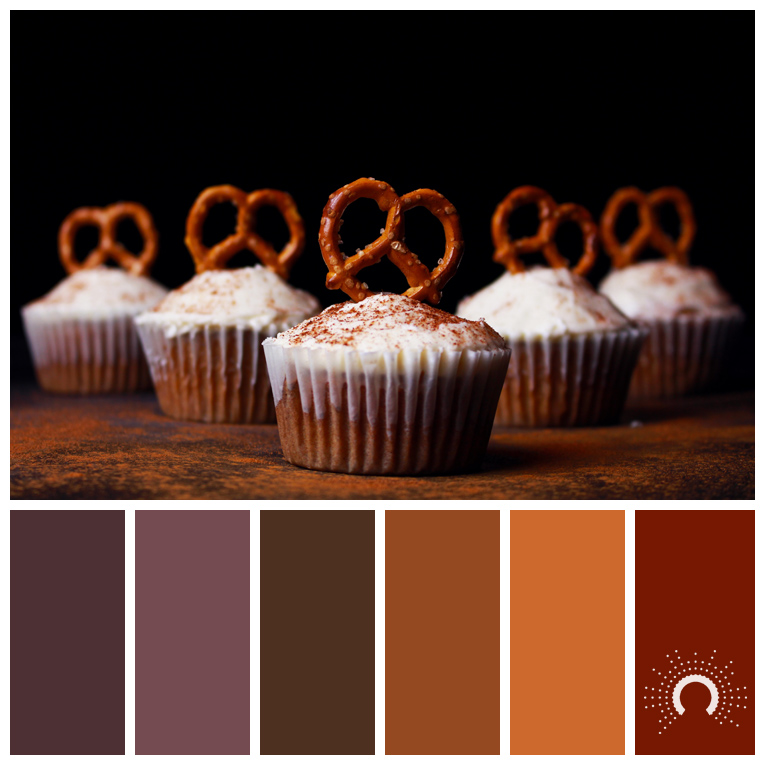 Color Palette Brezel Purple Brown Orange Red