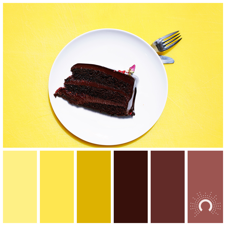 color palette, color combination, Farbpalette, hue, yellow, gelb, braun, brown, red, rot, warm color harmony, warme Farbharmonie