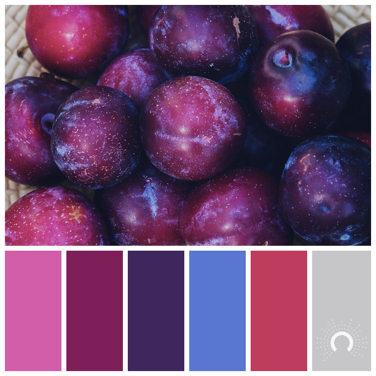 color palette, color combination, Farbpalette, hue, red-violet, blue, red, gray, rotviolet, blau, rot, grau