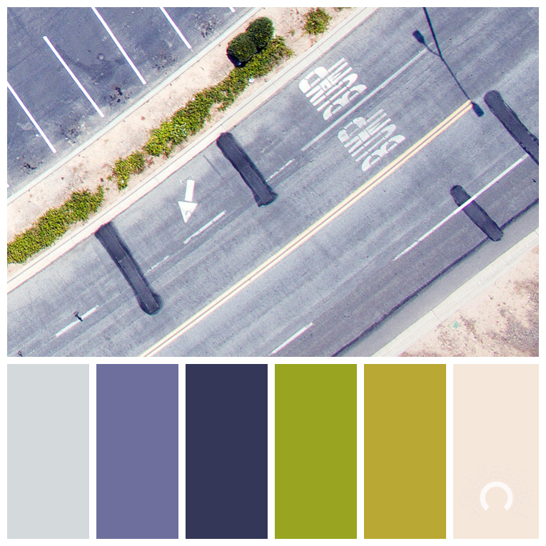 color palette, color combination, Farbpalette, hue, blue-grey, blue-violet, green, yellow-green, orange tint, sand, grün, gelbgrün, lilablau