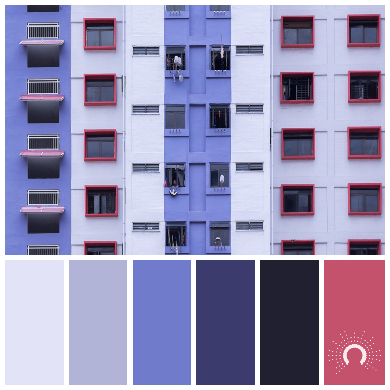 color palette, color combination, Farbpalette, hue, blauviolet, blue-violet, red tint, rot, pink