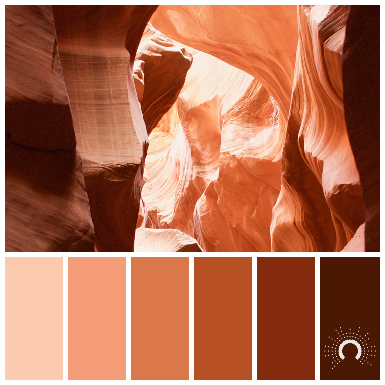 color palette, color combination, Farbpalette, hue, red-orange, rotorange, braun, brown