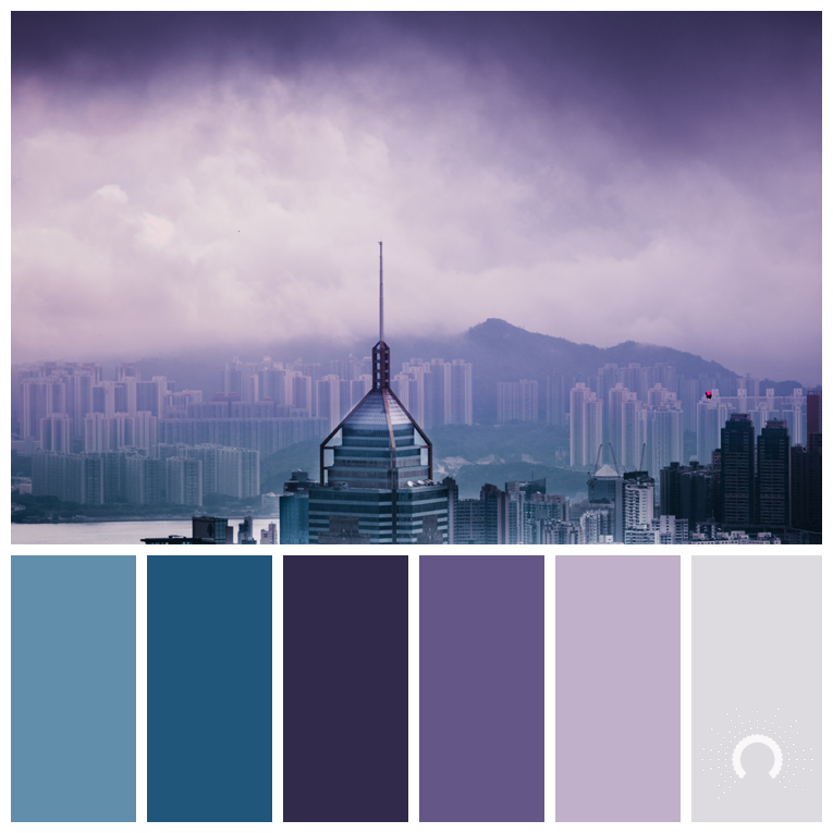 Color Palette Combination Farbpalette Hue Violet Lila Blau