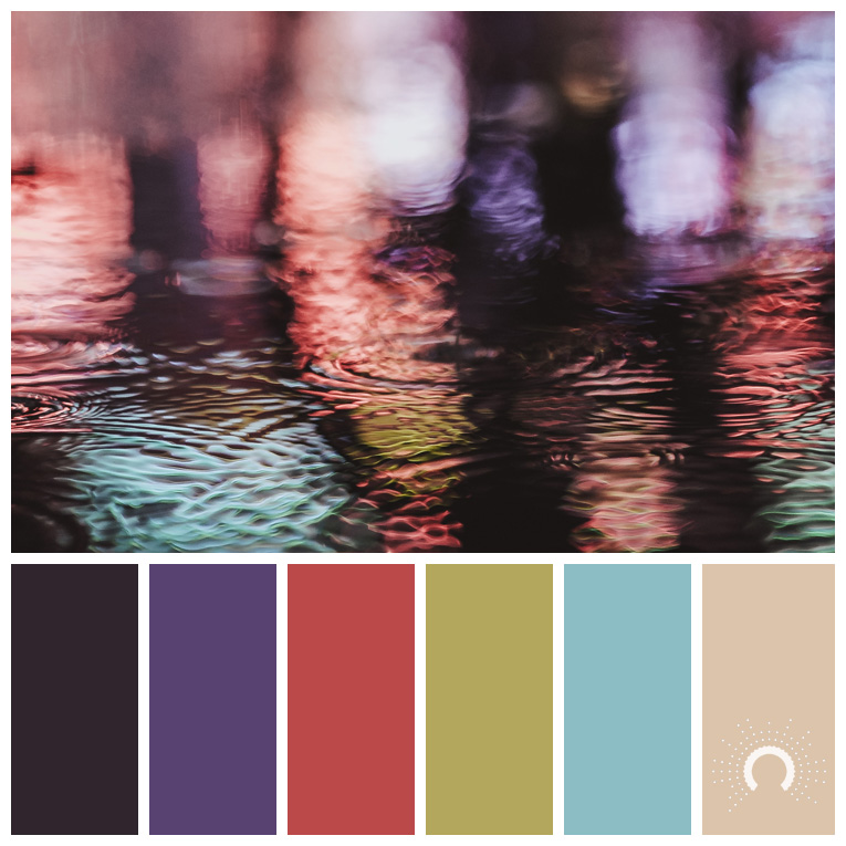 color palette, color combination, Farbpalette, hue, red-violet, purple, red, green, blue, beige, rotvioloet, lila, rot, grün, blau, beige