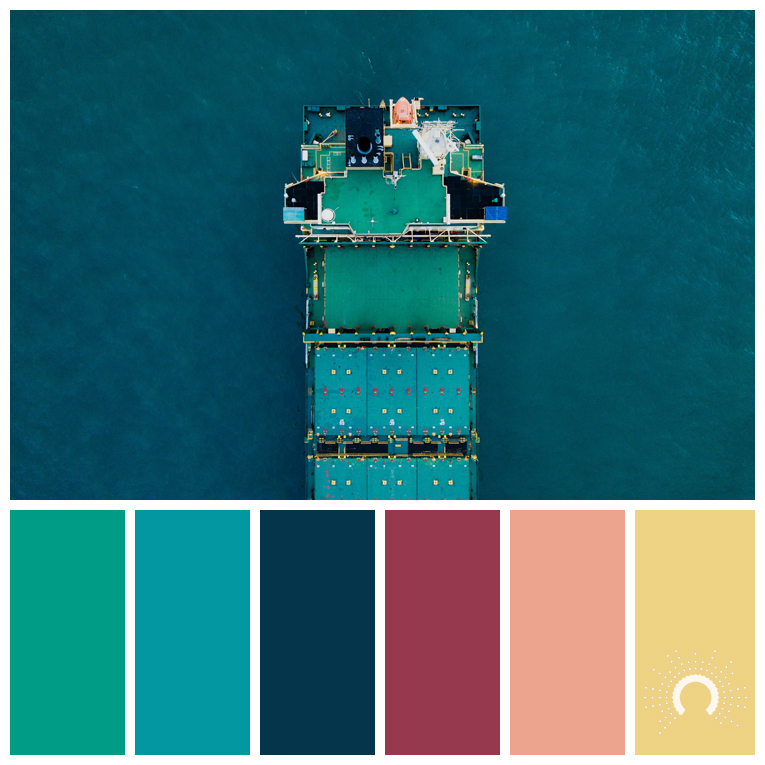 color palette, color combination, color combo, Farbpalette, hue, blue-green, blue, green, red, red-orange, yellow-orange, gelb, blau, grün, rot