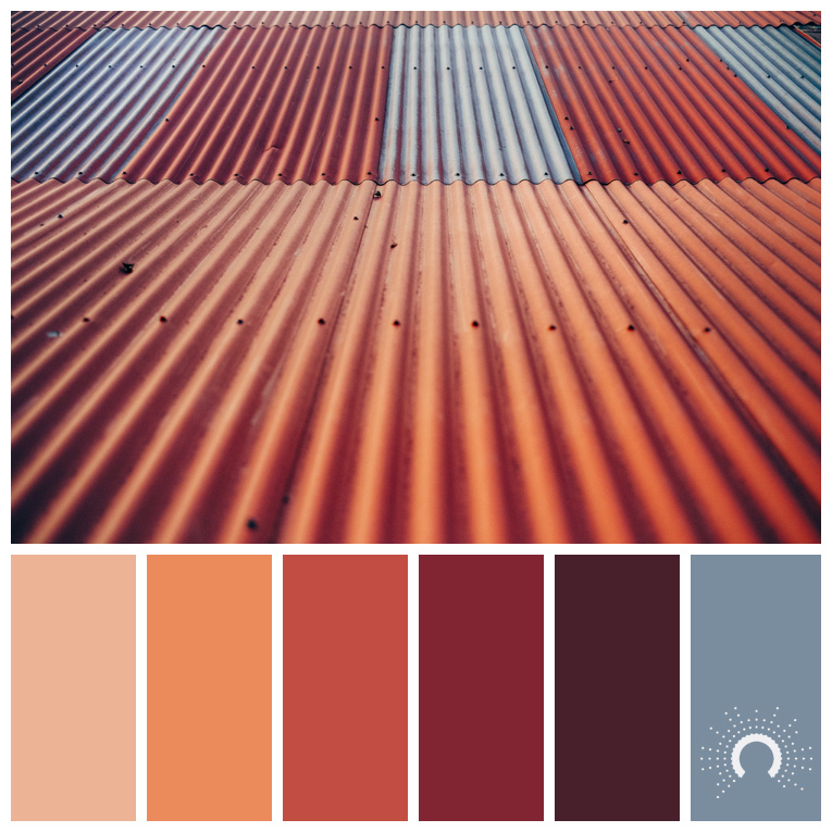 color palette, color combination, Farbpalette, hue, red-orange, rotorange, orange, red-violet, rotviolet, lila, purple, blau