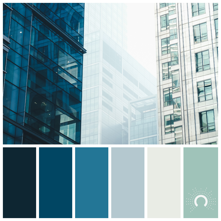 color palette, color combination, color combo, Farbpalette, hue, blue, gray, green, bluegreen, blaugrün, grün, grau, blau