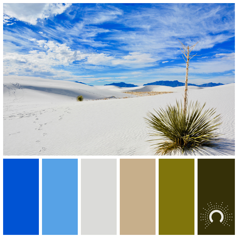 color palette, color combination, color combo, Farbpalette, hue, blue, gray, orange, green, blau, grau, sand, grüngelb, grün