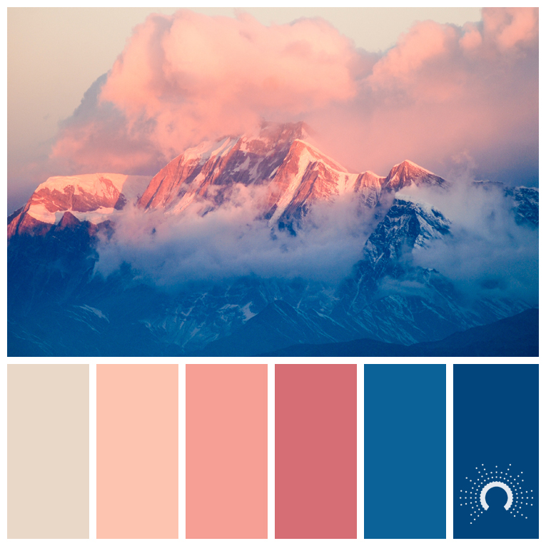 color palette, color combination, color combo, Farbpalette, hue, blue, beige, red, red-orange, blue, blau, sand, rotorange