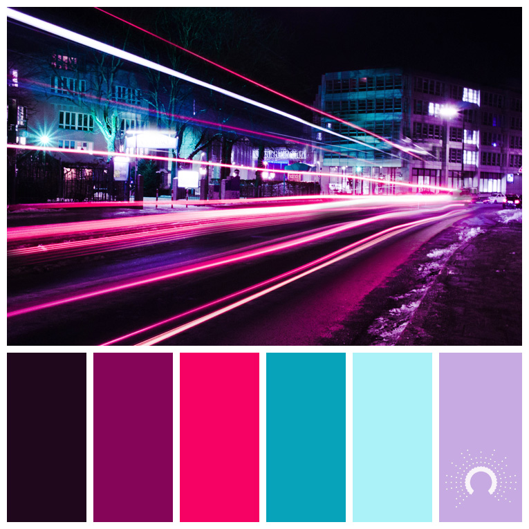 color palette, color combination, Farbpalette, hue, red-violet, blue, violet, rotviolet, blau, lila, rot