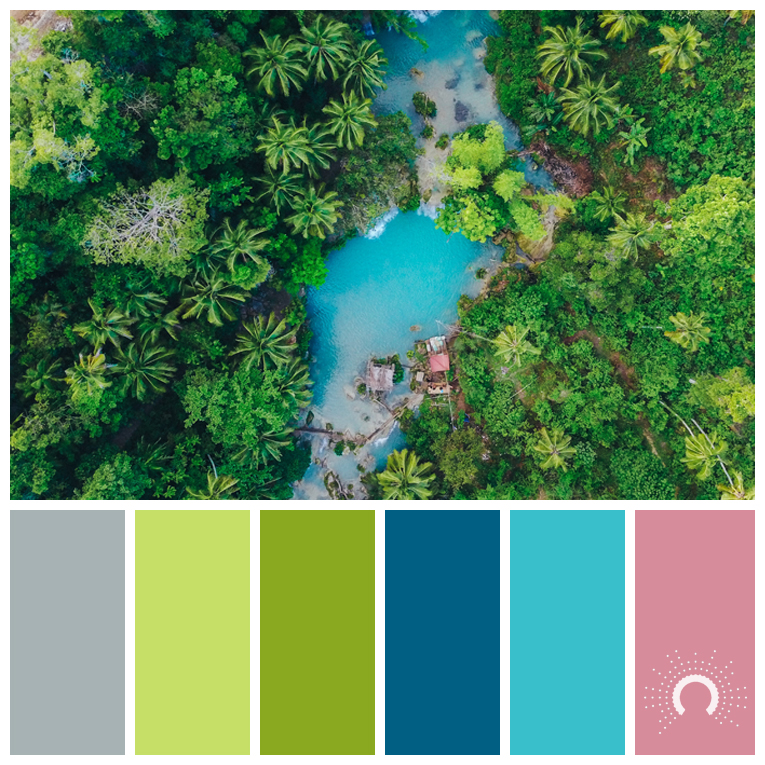 color palette, color combination, color combo, Farbpalette, hue, grey, blue-grey, yellow-green, blue, red