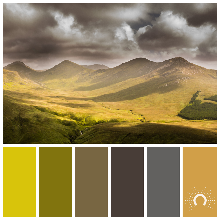 color palette, color combination, Farbpalette, Valley, Tal, green, grüen
