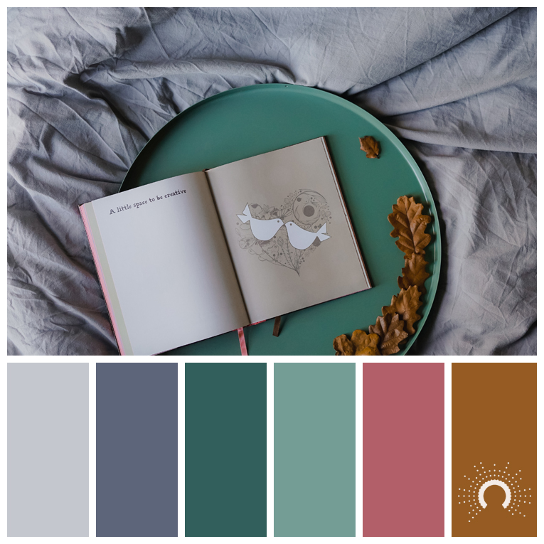 color palette, color combination, color combo, Farbpalette, hue, grey, blue, blue-green, red, red-orange, grau, lila, blau, grün, blaugrün, rot, orange