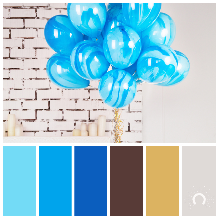 color palette, color combination, color combo, Farbpalette, hue, blue, brown, gold, grey, blau, braun, grau