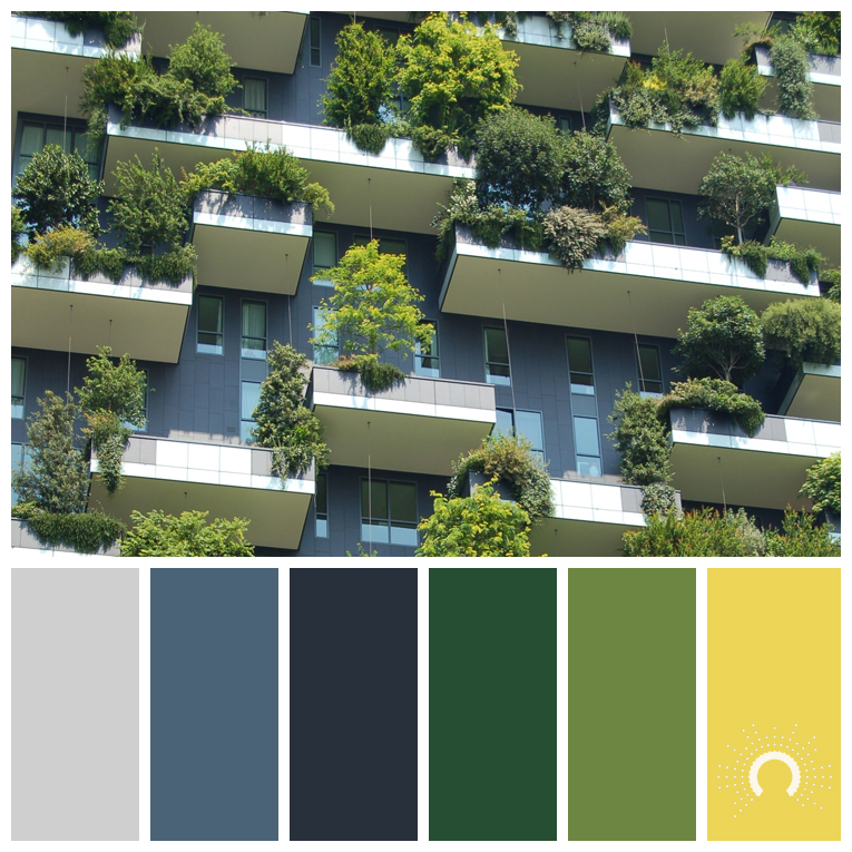 color palette, color combination, color combo, Farbpalette, hue, grey, blue, green, yellow, gelb, grün, blau, grau