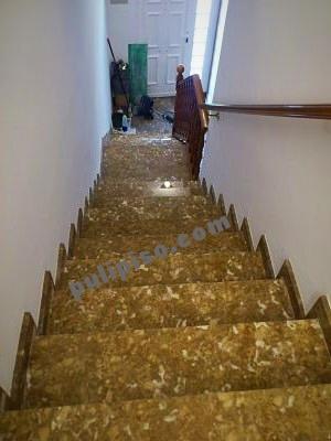 Escalera de mármol, vitrificado