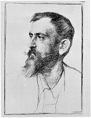 Bildnis Ubbelohdes von Richard Winckel, 1910
