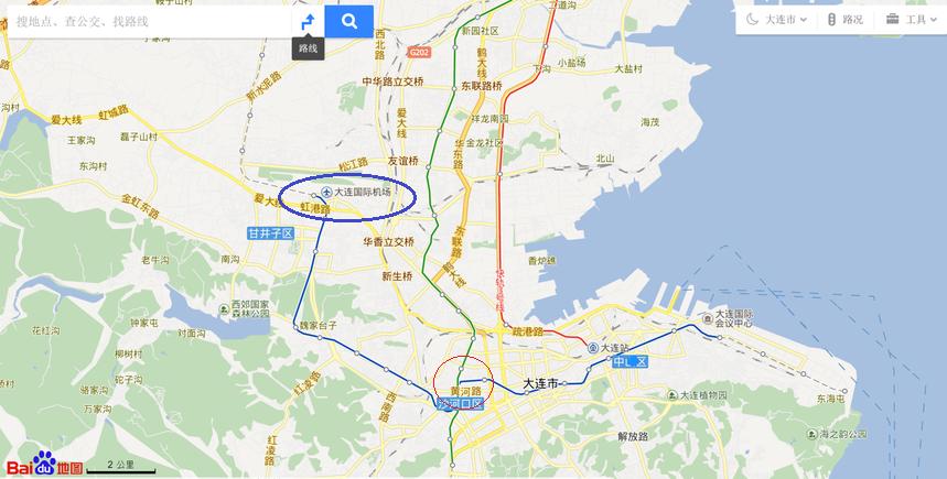 大連地下鉄地図