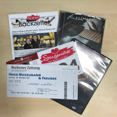 Bäckerei Spangemachers Heico Nickelmann Fanpaket