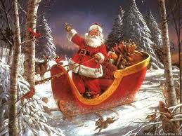 In den USA kommt der Weihnachtsmann auf dem Rentierschlitten angebraust.