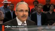 "BDP-Nationalrat Hans Grunder in der ""Arena""."