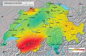 Das stärkste bekannte Erdbeben in der Schweiz erschütterte Basel im Jahr 1356. Es hatte eine Stärke auf der Richterskala von geschätzten 6 bis 7.