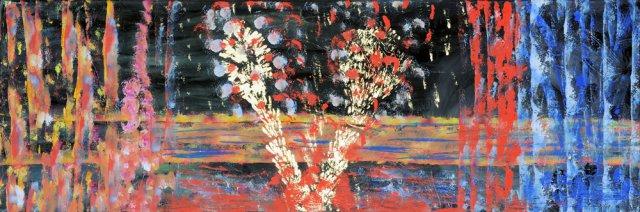 Bild Nr. 158, Format 90/30, Feuerwerk, Preis Fr. 390.00