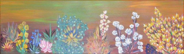 Bild Nr. 45, Format 100/30, Exotische Blumen, Preis Fr. 380.00